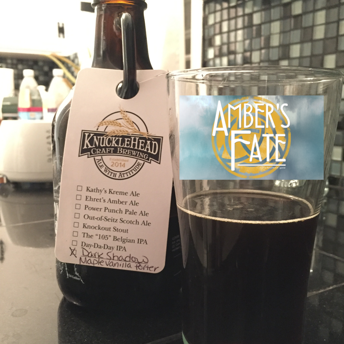 Ambars Fate and Knucklehead Brewing
