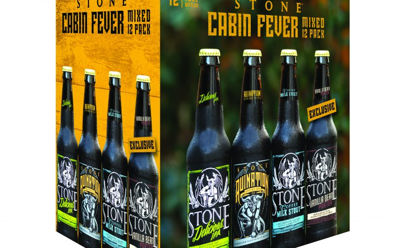 Brewelist Advent Calendar 2016 – The Cure for Cabin Fever – Stone Brewing Company's Cabin Fever Mixed 12 Pack