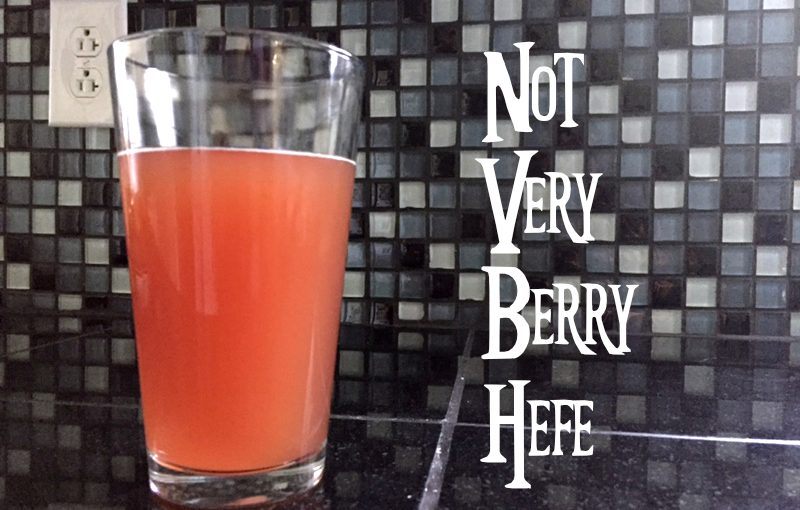 A Very Berry Beer To Savor This Summer – Not Berry Hefe – Knucklehead Craft Brewing