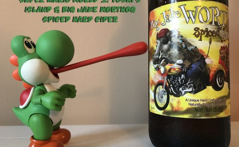 Super Mario World 2: Yoshi's Island and Big Jake Warthog Spiced Hard Cider from Warthog Cidery